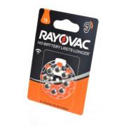 Батарейки Rayovac 13 PR48 1,45В для слухового аппарата 8шт (блистер 120х80 мм)