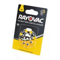 Батарейки Rayovac 10 PR70 1,45В для слухового аппарата 8шт (блистер 120х80 мм)