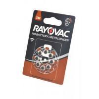 Батарейки Rayovac 312 PR41 1,45В для слухового аппарата 8шт (блистер 120х80 мм)