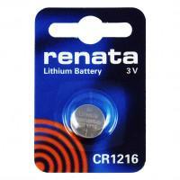 Батарейка RENATA CR1216 3В дисковая литиевая 1шт