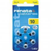 Батарейки RENATA 10 1,45 В для слухового аппарата 6шт