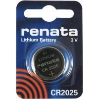 Батарейка RENATA CR2025 3В дисковая литиевая 1шт