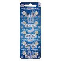 Батарейки для часов RENATA 379 SR626W 1,55 В дисковые 10шт