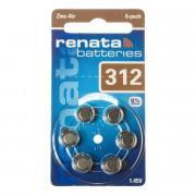 Батарейки RENATA 312 1,45 В для слухового аппарата 6шт