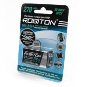 Аккумулятор Ni-Mh металлогидридный Robiton RTU270MH Крона 270 мАч 9 В