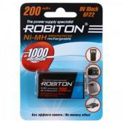 Аккумулятор Ni-Mh металлогидридный Robiton 200MH9 Крона 9 В 200 мАч 1шт