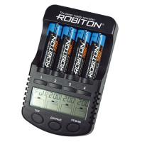 Интеллектуальное зарядное устройство Robiton ProCharger 1000 для Ni-Mh Ni-Cd на 4 аккумулятора АА и ААА