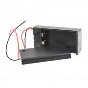 Батарейный отсек с проводами и выключателем ROBITON Bh1x9V/switch для 1 батарейки или аккумулятора размера КРОНА