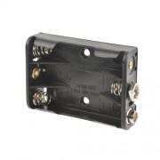 Батарейный отсек ROBITON Bh3xAAA/9V snap для 3 батареек или аккумуляторов размера ААА и 10440 с выводами для кроны