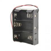 Батарейный отсек с проводами ROBITON Bh3xC для 3 батареек или аккумуляторов размера C LR14 и 26500