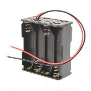 Батарейный отсек с проводами ROBITON Bh8xAAA для 8 батареек или аккумуляторов размера ААА и 10440