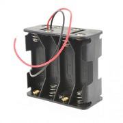 Батарейный отсек с проводами ROBITON Bh8xAA для 8 батареек или аккумуляторов размера АА и 14500