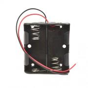 Батарейный отсек с проводами ROBITON Bh2xC для 2 батареек или аккумуляторов размера C LR14 и 26500