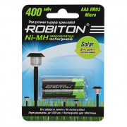 Аккумуляторы Ni-Mh для солнечных светильников Robiton 400MHAAA Solar HR03 AAA 400 мАч 1,2 В 2шт