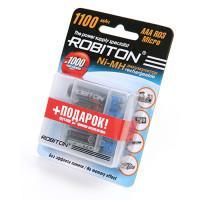 Ni-Mh аккумуляторы Robiton AAA 1100мАч 4шт + Бокс