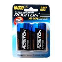 Аккумуляторы Ni-Mh аккумуляторы Robiton 10000MHD HR20 D 10000 мАч 1,2 В 2шт