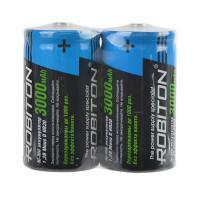 Аккумуляторы Ni-Mh металлогидридные Robiton RTU3000MHD HR20 D 3000 мАч 1,2 В 2шт