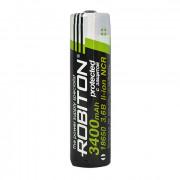 Аккумулятор NCR литий-кобальтовый (Li-Ion) защищенный Robiton PANASONIC 18650 3400 мАч 3,7 В