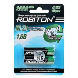 Аккумуляторы Ni-Zn никель-цинковые Robiton AA 1500мАч 1,6В 2500 мВтч 2шт