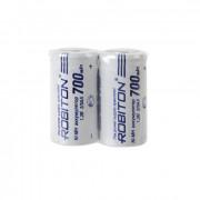 Аккумуляторы Ni-Mh металлогидридные Robiton 700MH2/3AA 2/3 AA 700 мАч 1,2 В плоский плюсовой контакт 2шт