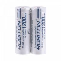 Аккумуляторы Ni-Mh металлогидридный Robiton 1200MH4/5AA 4/5AA 1200 мАч 1,2 В плоский плюсовой контакт 2шт