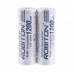 Аккумулятор Ni-Mh Robiton 4/5AA 1200мАч 1,2В плоский контакт 2шт