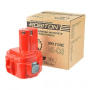 Аккумулятор Ni-Cd никель-кадмиевый Robiton MK1215NC для шуруповерта Makita 12 В 1500 мАч