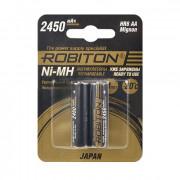 Аккумуляторы Ni-MH металлогидридные Robiton HR-3UTGX  Japan HR6 AA 2450 мАч 1,2 В 2шт