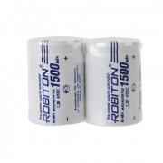 Аккумуляторы Ni-Mh металлогидридные Robiton 1500MH4/5SC 4/5 SC 1500 мАч 1,2 В плоский плюсовой контакт 2шт