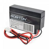 Свинцово-кислотный герметичный необслуживаемый аккумулятор 12В 0.8А Robiton VRLA12-0.8-VHR