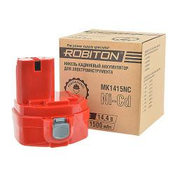 Аккумулятор Ni-Cd никель-кадмиевый Robiton MK1415NC для шуруповерта Makita 14,4 В 1500 мАч