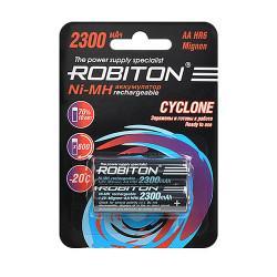 Аккумулятор Ni-MH Robiton Cyclone AA 2300мАч 1,2В 2шт