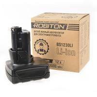 Аккумулятор Li-Ion литий-ионный Robiton BS1230LI для шуруповерта Bosch 12 В 1500 мАч