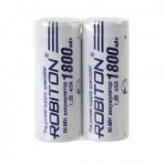 Аккумуляторы Ni-Mh металлогидридные Robiton 1800MH4/5A 4/5 A 1800 мАч 1,2 В плоский плюсовой контакт 2шт