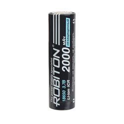 Аккумулятор ICR литий-кобальтовый (Li-Ion) Robiton 18650 2000 мАч 3,7 В