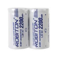 Аккумуляторы SC Ni-Mh металлогидридные Robiton 2200MHSC-2 2200 мАч 1,2 В плоский плюсовой контакт 2шт