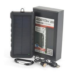 Внешний аккумулятор (Power Bank) с солнечной батареей Robiton LP-24-Solar Type-C 3,7В 24000мАч