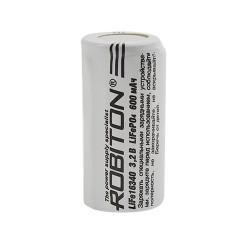 Аккумулятор Li-Fe (Li-Ion) Robiton 16340 500мАч 3,2В (с защитой) 1шт