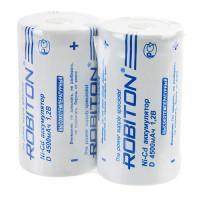 Аккумуляторы Ni-Cd никель-кадмиевые Robiton 4500NCD высокотемпературный D 33600 4500 мАч 1,2 В плоский плюсовой контакт 2шт