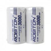 Аккумуляторы SC Ni-Mh металлогидридные Robiton 3000MHSC-2 3000 мАч 1,2 В плоский плюсовой контакт 2шт