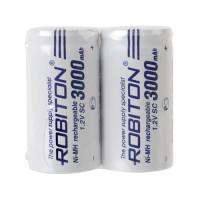 Ni-Mh аккумуляторы Robiton SC 3000мАч плоский контакт (+) 2шт
