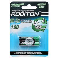 Аккумулятор Ni-Zn Robiton AAA 550мАч 1,6В 1000мВтч 2шт