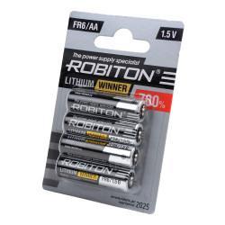 Литиевая батарейка Robiton Lithium Winner AA 4шт R-FR6-BL4