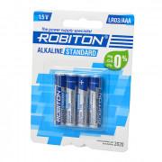 Батарейки алкалиновые Robiton Alkaline Standard AAA LR03 1,5 В 4шт