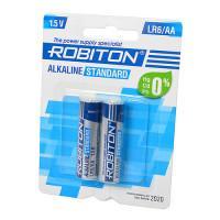 Батарейки алкалиновые Robiton Alkaline Standard AA LR6 1,5 В 2шт