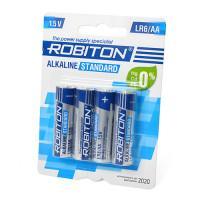 Батарейки алкалиновые Robiton Alkaline Standard AA LR6 1,5 В 4шт