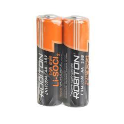 Специальная литиевая высокотоковая батарейка Li-SOCl2 Robiton ER14505 AA 3,6В 2шт