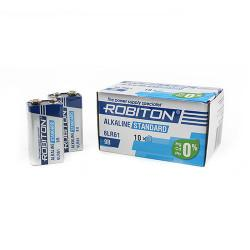 Щелочная батарейка Robiton Alkaline Standard Крона 9V 10шт 6LR61 9V BULK10