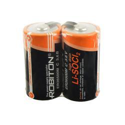 Специальная литиевая высокотоковая батарейка Li-SOCl2 Robiton ER26500 C с лепестковыми выводами 3,6В 2шт