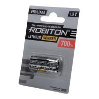 Литиевая батарейка Robiton Lithium Winner AAA 2шт R-FR03-BL2
